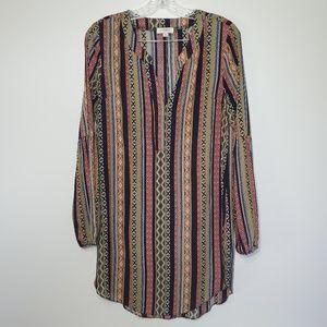 Umgee Boho Tunic/ Shirt Dress Festival Colorful